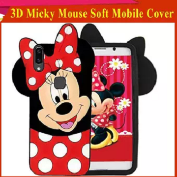 Samsung A30s Mobile Cover For Girls - 3D Rubber Micky Mouse Soft phone cases