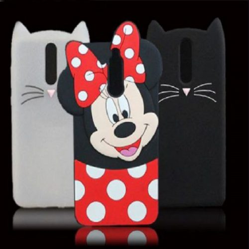 Huawei Mate 10 Lite Mobile Cover For Girls - 3D Rubber Micky Mouse Soft phone cases