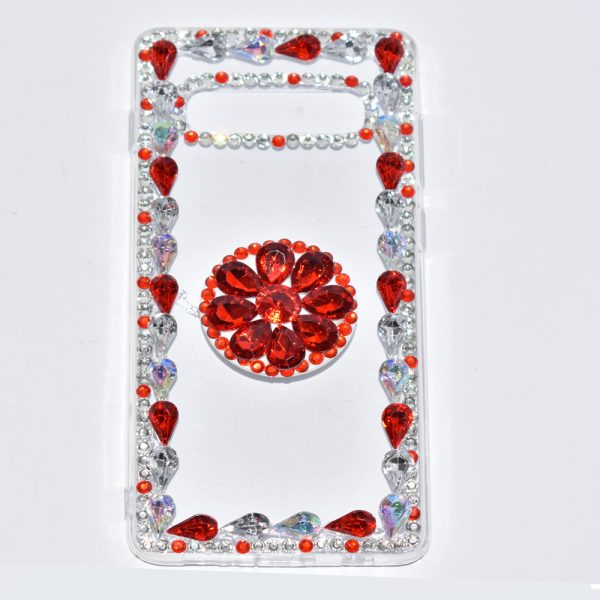 Vivo Y17 Red Fancy Mobile Cover For Girls With Holder - 2V3Q0