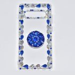 oppo f9 blue fancy mobile cover for girls with holder