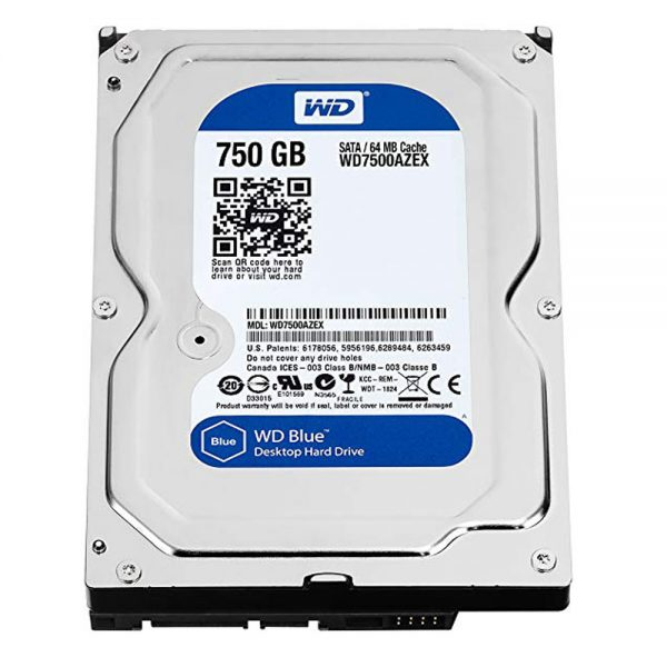 WD HDD 100% Health Internal Hard Drive 750GB Hard Disk For PC 1 Month Warranty - 2S9P00