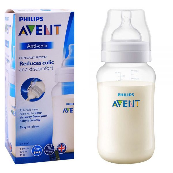 Avent Philips Anti-Colic Feeding Bottle, 3m+, 330ml SCF816/17-VU1480