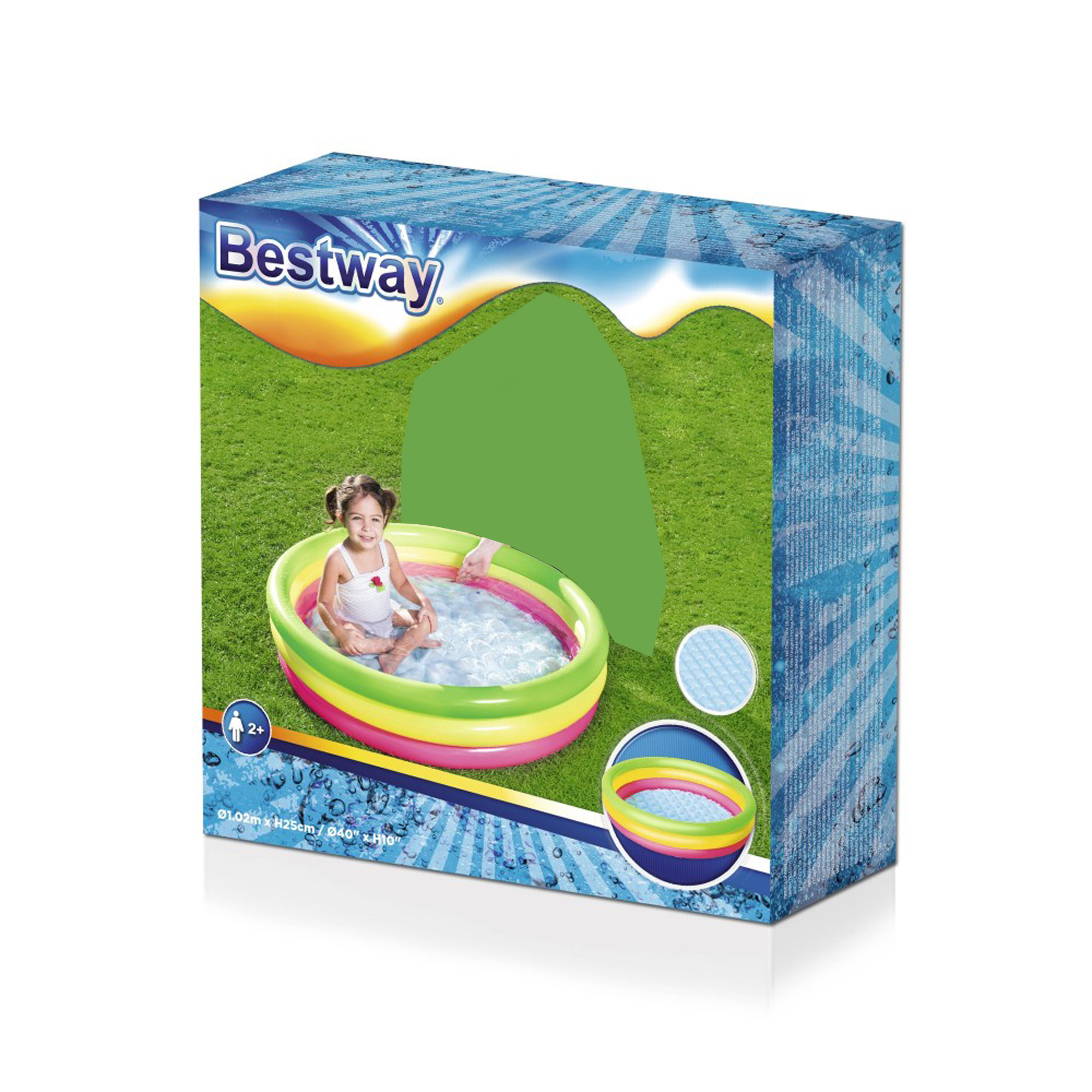 "BESTWAY 3 RING POOL 1.22M X 25 CM 48/"" X 10/"""
