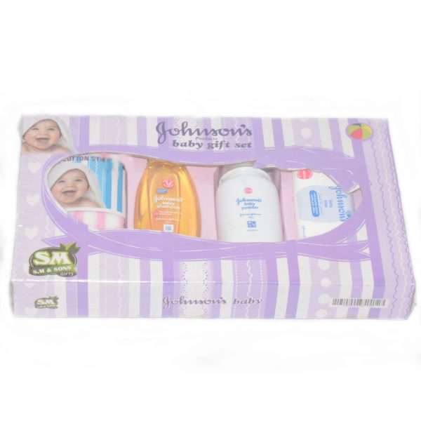 Gift Set For New Born Babies With Cotton Stick Powder, Soap & Shampoo BF48-3Y20Q