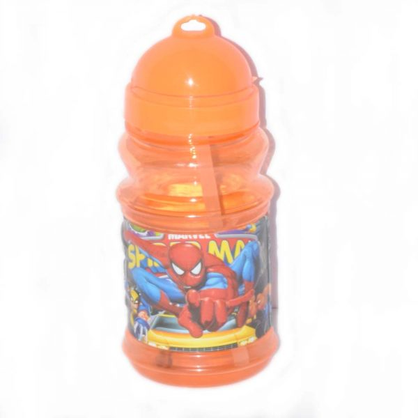 Spider Man Style Baby Feeding Bottle With Straw BF155-1L8O0