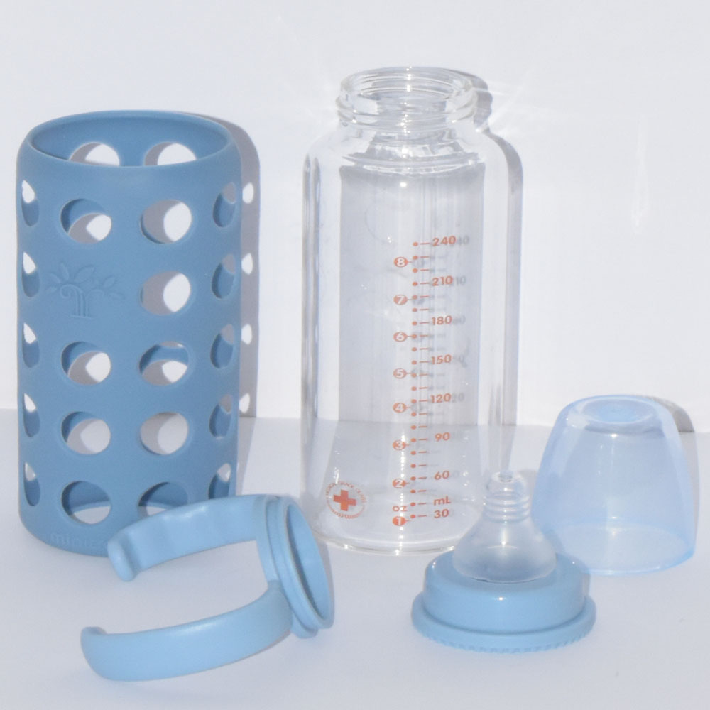 240 ml Minitree Glass Baby Feeding Bottle With Handle BF41-3A0T0