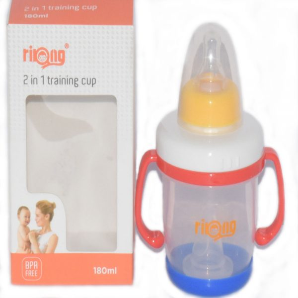 180 ml 2 in 1 Training Cup Baby Feeding Bottle With Handle BF35-2E9O0