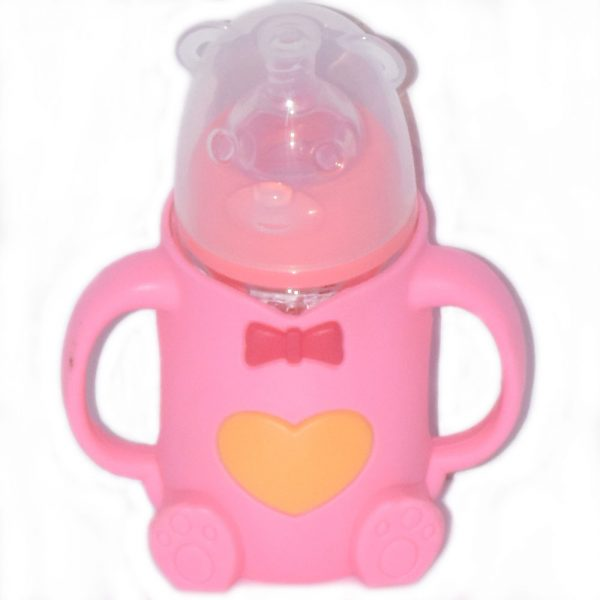 240 ml Bear Style Glass Baby Feeding Bottle With Handle BF34-5S50O