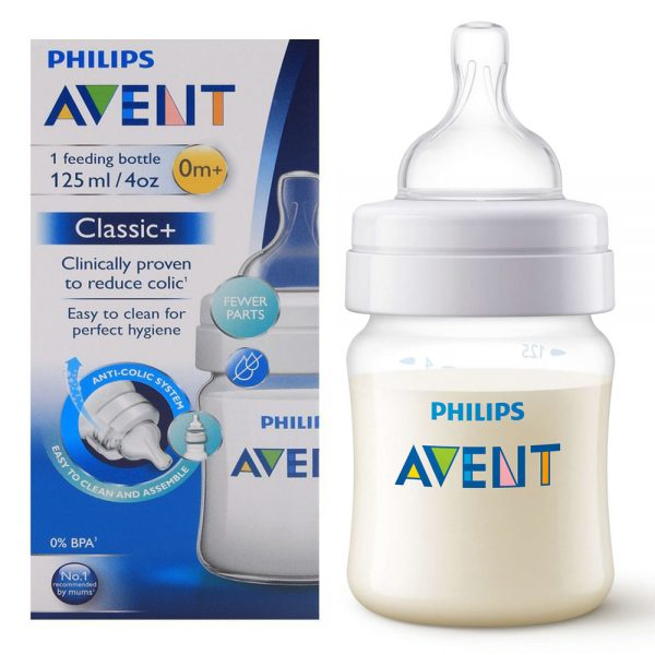 Avent Philips Classic+ Feeding Bottle, 0m+, 125ml SCF560/17-VP1280