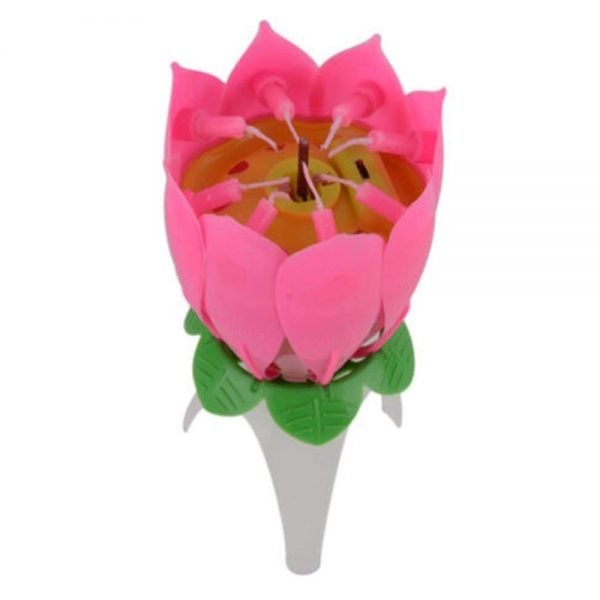 Happy Birthday Cake Topper Flower Candle '0XV7