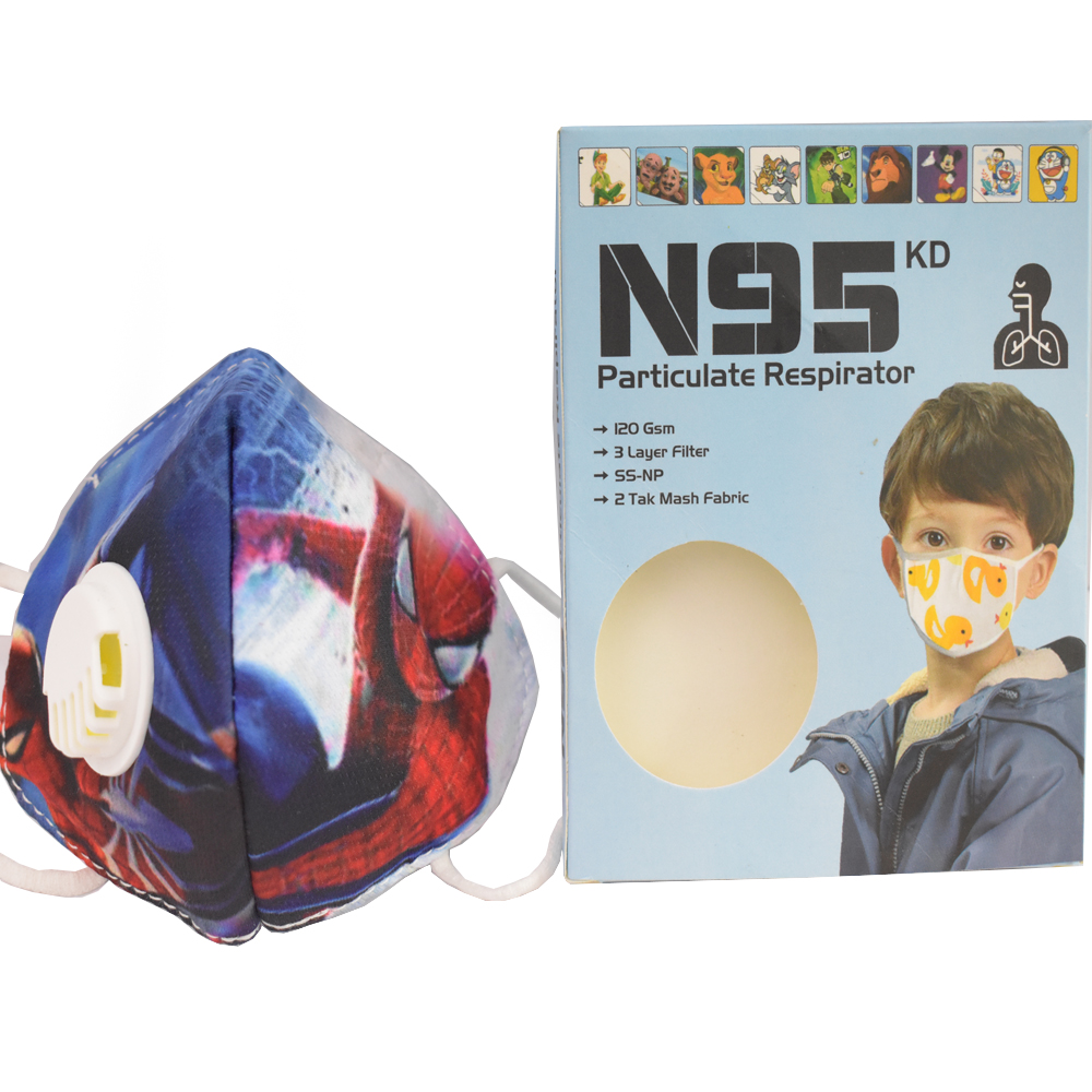 8 to 16 Years Spider Man Cartoon Charactor N95 Mask