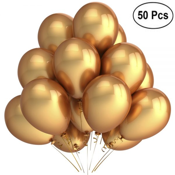 Party Decoration Golden Latex Balloons 150pcs '0SS51