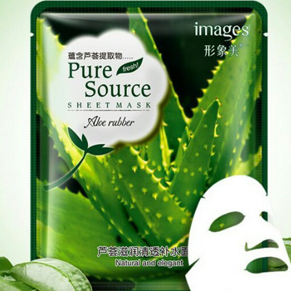 Images Pure Source Sheet Mask Aloe rubbr 100% Natural 40g