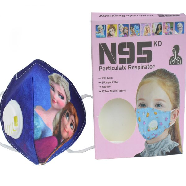 3 to 8 years Barbie Cartoon Character N95 Mask for Kids, boys & Girls fm12