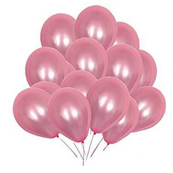 Pearl Pink Latex Balloons For Birthday, Parties & Wedding Celebrations 50pcs 'O05K1