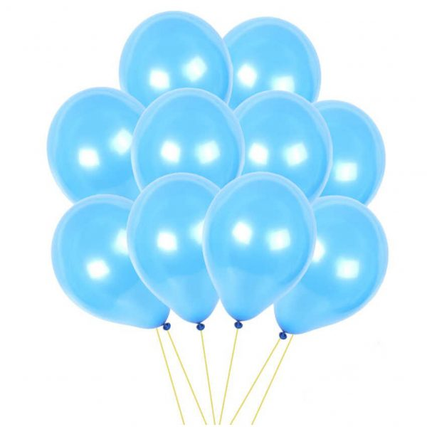 Pearl Blue Latex Balloons For Birthday, Parties & Wedding Celebrations 50pcs '0SS51