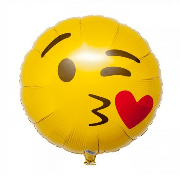 "18"" Emoji Style Foil Helium Balloon Birthday, Parties, Wedding, & More Decorations '0H3C"