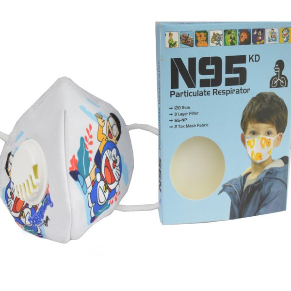 3 to 8 Years Doraemon Cartoon Charactor N95 Mask for Kids, boys & Girls Fm5