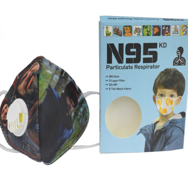 3 to 8 years Ertugrul Ghazi Character N95 Mask for Kids, boys & Girls fm18