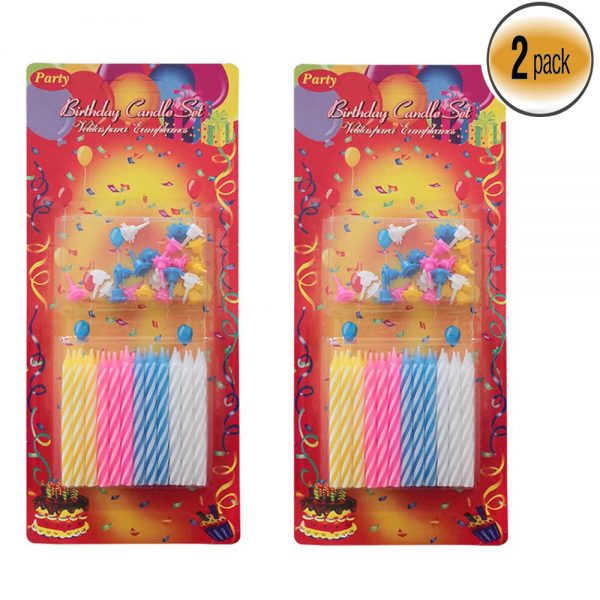 Pack of 2 Birthday Cake Topper Magic Candles 48pcs '06SZ